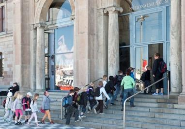 Samling utanför Nationalmuseum